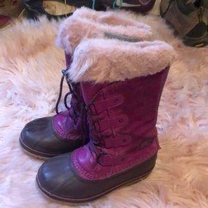 Girl's Sorel Snowboots Size:2